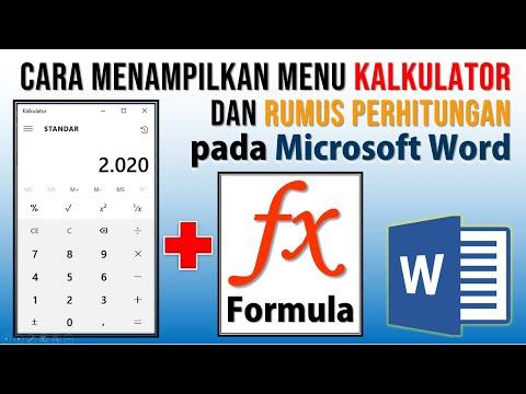 Cara Menampilkan Menu Kalkulator dan Formula di Word