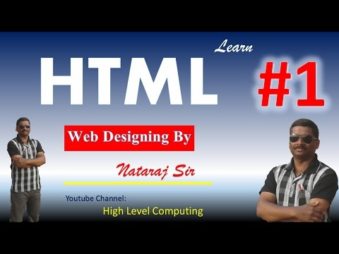 Learn HTML And Web Designing In Hindi Part-1
