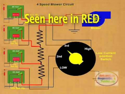 how to wire 4 speed ac blower relay