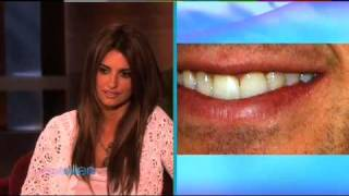 Penelope Cruz on Ellen - Can she Name Those Lips ?