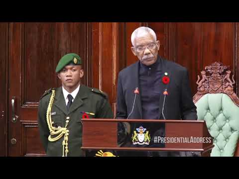 H.E. David Granger's Address To Parliament | November 2, 201