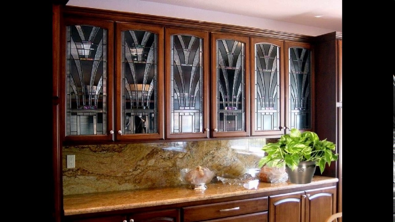 Glass etching designs for kitchen cabinets - YouTube