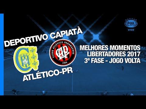 Melhores Momentos - Deportivo Capiatá 0 x 1 Atlético-PR - Libertadores - 22/02/2017