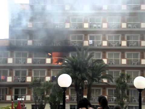 Brand Fire In Luna Club Park Hotel Malgrat De Mar