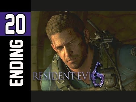 Resident Evil 6 Walkthrough Part 20 Ending Chris Redfield Campaign Let S Play Re6 Youtube
