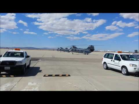 Boeing Vertol CH-46E Sea Knights Pre-Flight Sequence Check, Start Up, & Departure From KVCV