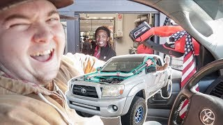 we-supercharged-his-tacoma-with-a-leaf-blower