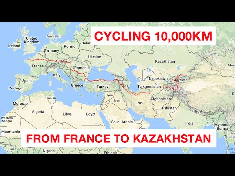 Cycling 10,000km from France to Kazakhstan