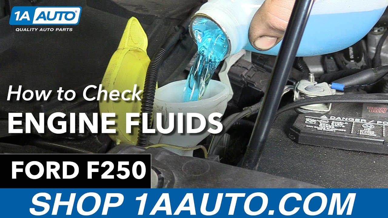 How to check fluid levels on 2013 ford f250 1a auto parts