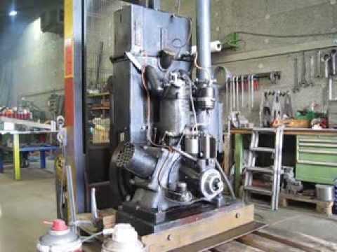 Old Single Cylinder Dieselengine MAG Geneve Suisse