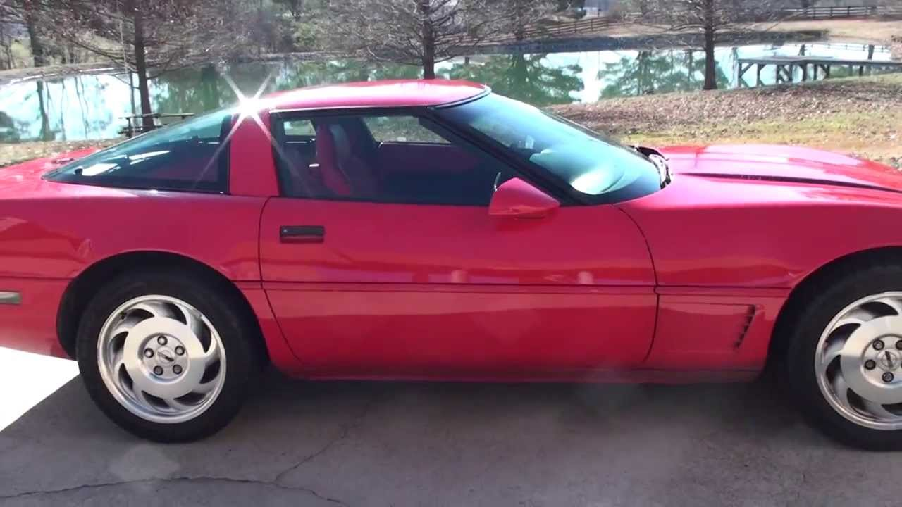 hd video 1995 chevrolet corvette c4 for sale see www. Black Bedroom Furniture Sets. Home Design Ideas