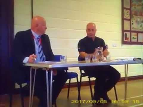 Kirby Misperton Corporate Police assisting Fracking briefing