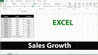 How to Calculate Sales Growth in Excel