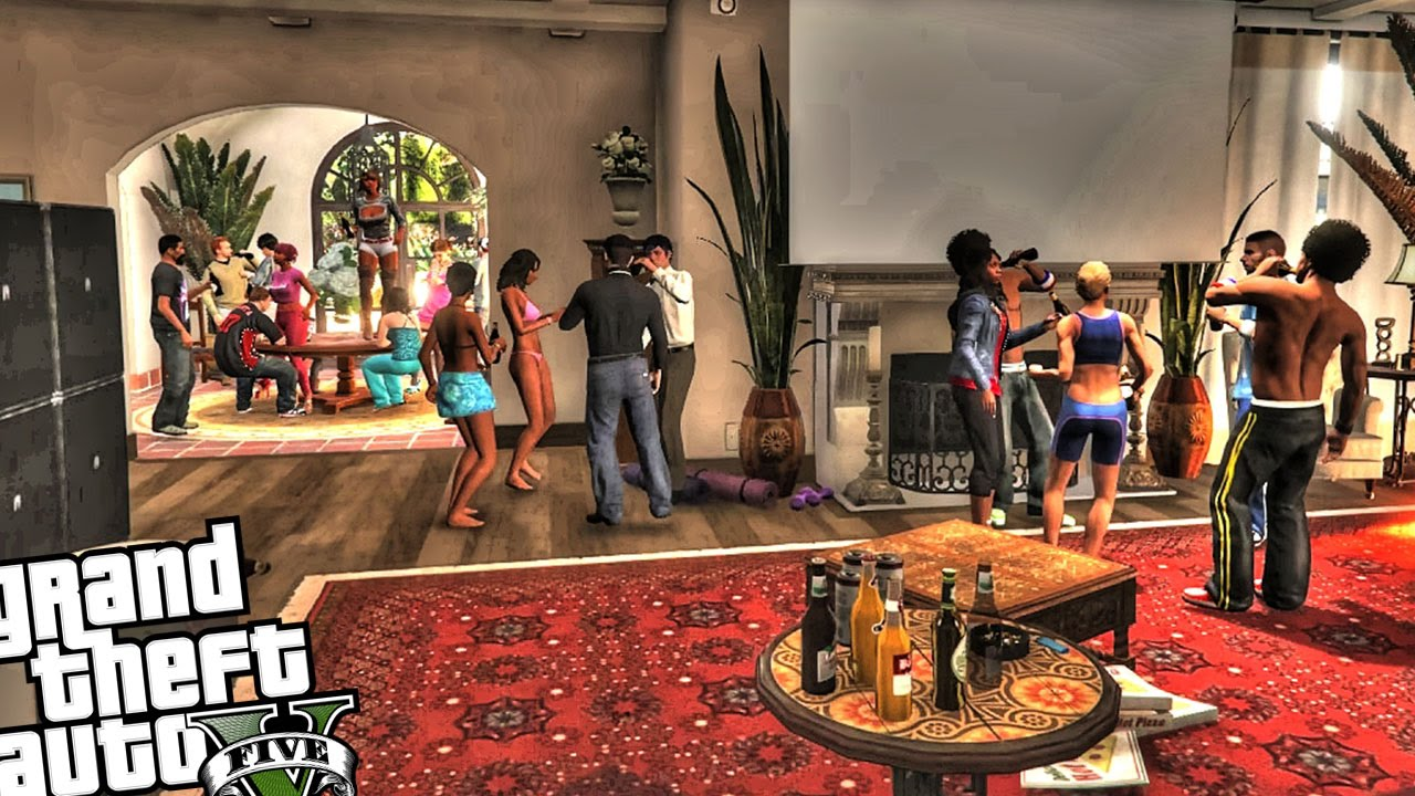 Michael S Epic House Party Gta 5 Mod Character Mods Unique Birthday Ideas