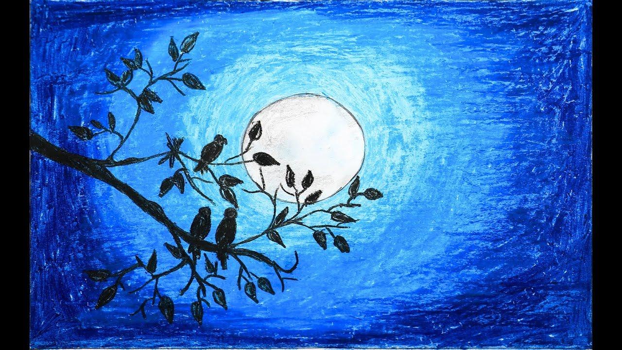 Лучшее рисунки лунного света