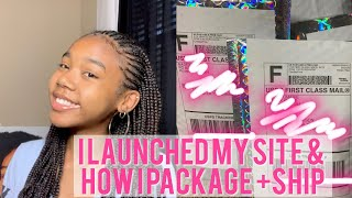 TEENPRENEUR VLOGS E.2/ I launched my site! + How I ship from home