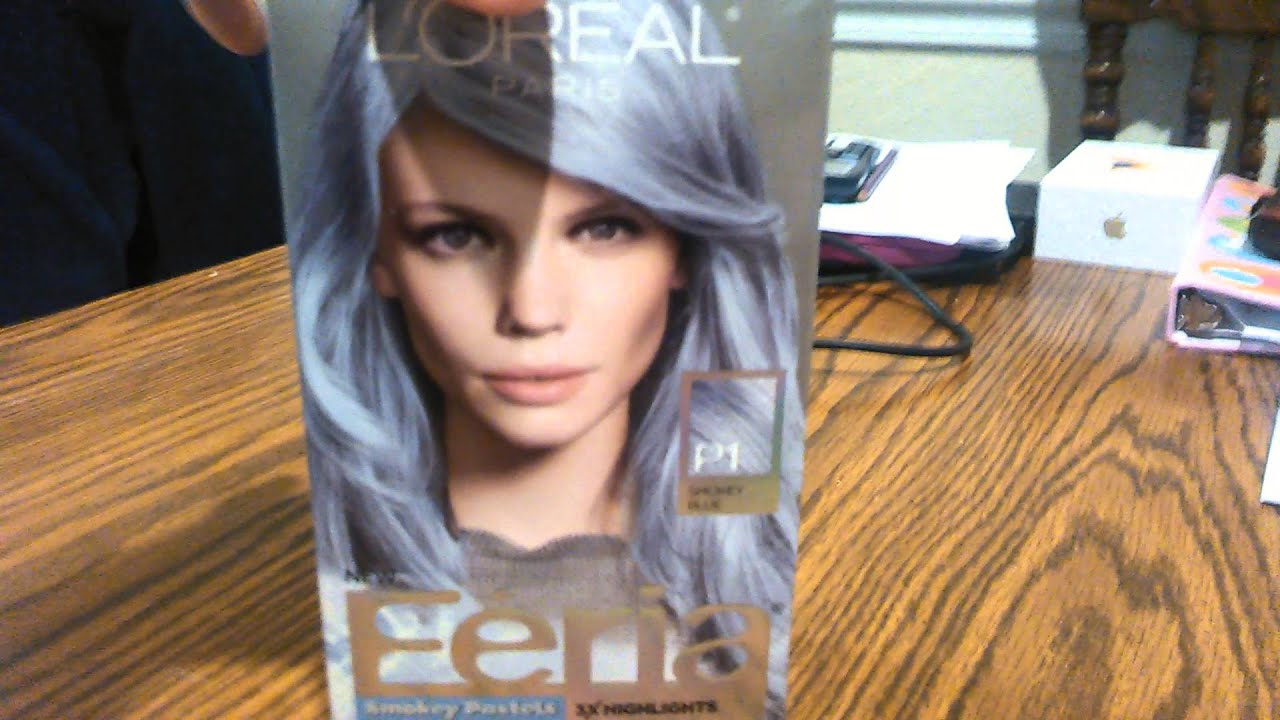 Loreal Feria Pastel Smokey Blue Sapphire Blue Review Youtube