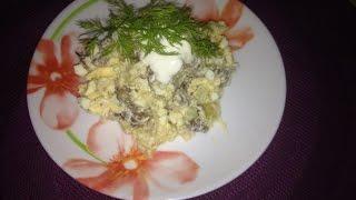 Очень вкусный и легкий салат с сердечками