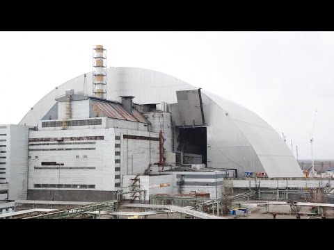 Watch as Chernobyl nuclear site is encased in a massive new tomb