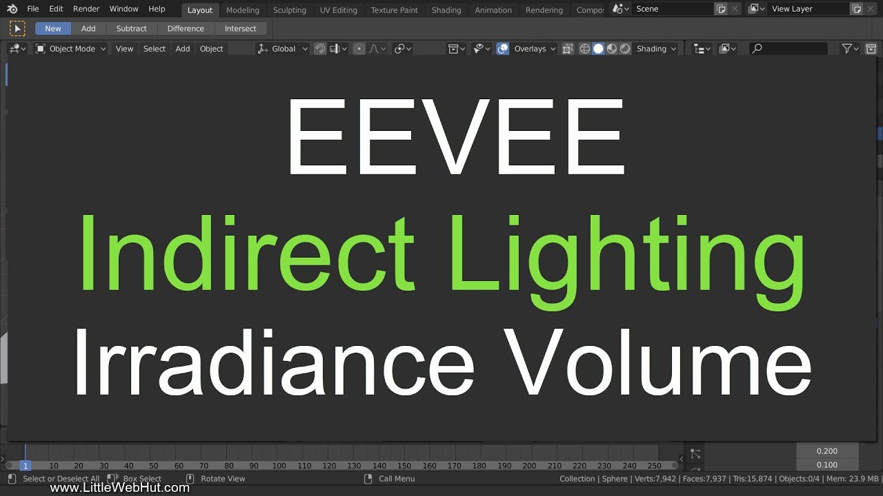 EEVEE Indirect Lighting in 7 Minutes: Blender 2 8 Tutorial