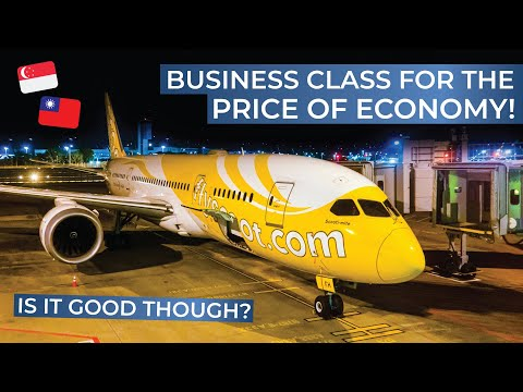 TRIPREPORT | SCOOT (Business Class) | Boeing 787-8 | Taipei - Singapore