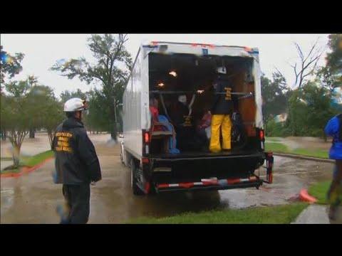 Nebraska Task Force One in full rescue mode in Houston