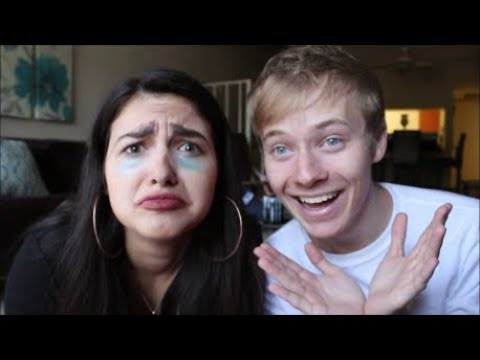 BOYFRIEND DOES MY MAKEUP! W/ Sam Golbach