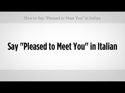 """How to Say """"Pleased to Meet You"""" 