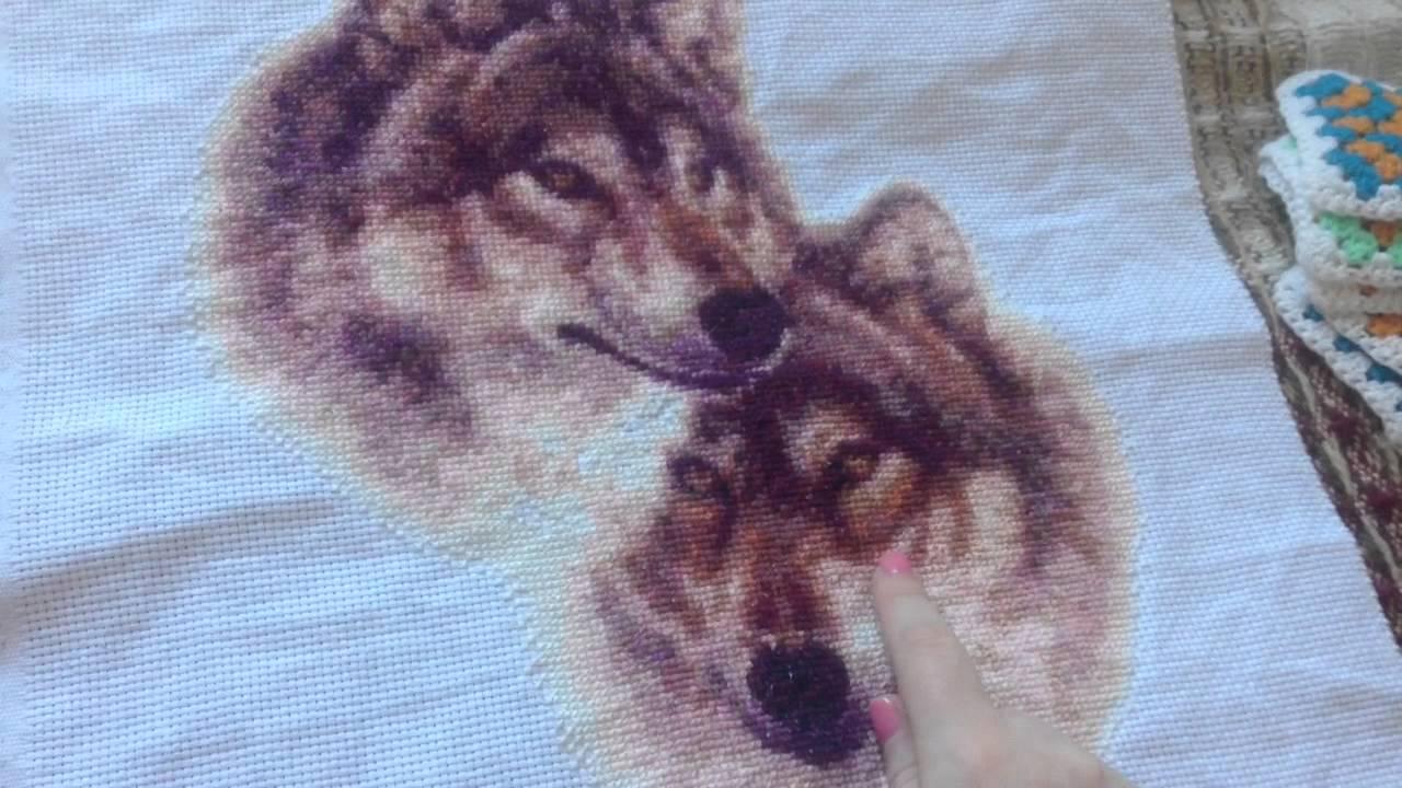 Вышивка волк алиэкспресс