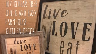 DIY Dollar Tree Quick and Easy Farmhouse Kitchen Decor