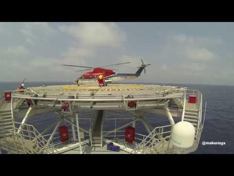 Sikorsky S-76C++ landing offshore