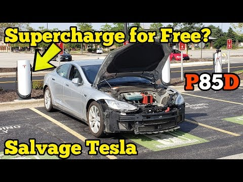 Rebuilding a TOTALED TESLA In my Garage then driving to a Supercharger to test if It's BLACKLISTED!