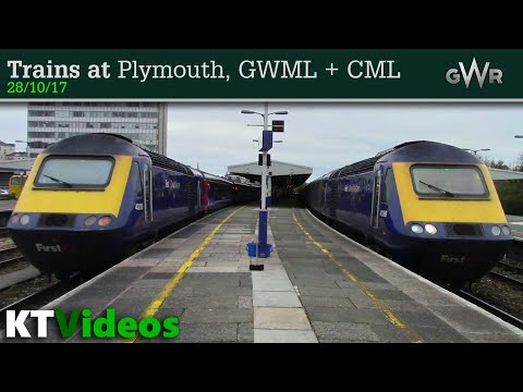 Trains at Plymouth, GWML + CML - 28/10/17