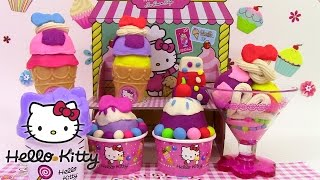 Play Doh Hello Kitty Ice Cream Shop le marchand de glaces pâte à modeler  ハローキティ アイスクリーム