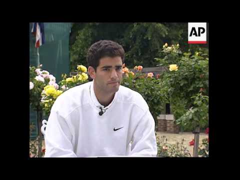 UK: PETER SAMPRAS TALKS ABOUT HIS HOPES AND FEARS FOR WIMBLEDON