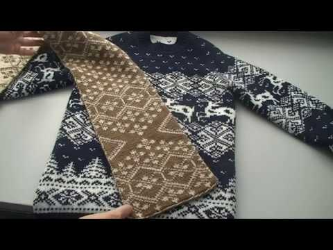 Вязание жаккард мужской свитер
