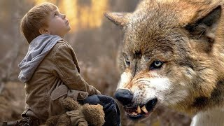 A shewolf saved the boy from 3 wolves. 2 years later the boy saved her pup from death