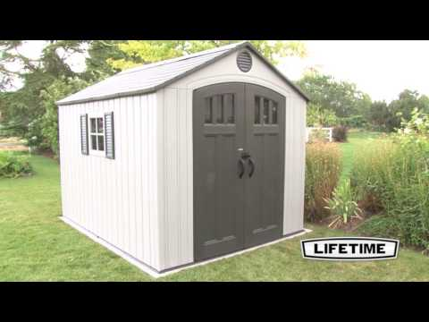 lifetime-8'-x-10'-outdoor-storage-shed-|-model-60202-|-features-&-benefits-video