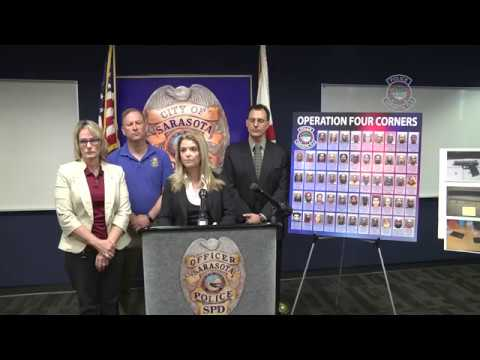 Sarasota Police:  'Operation Four Corners' Results in 49 Arrests