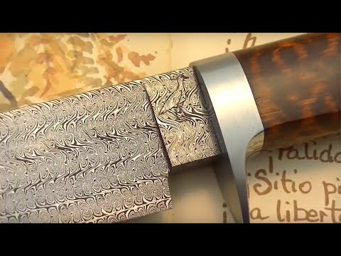 Damascus steel: Making a special twisted multibar blade. Part II: Handle making.