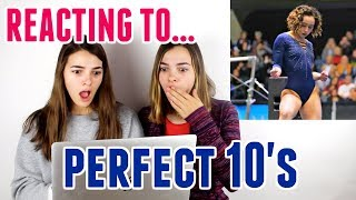 Reacting to PERFECT 10 Gymnastics Routines!