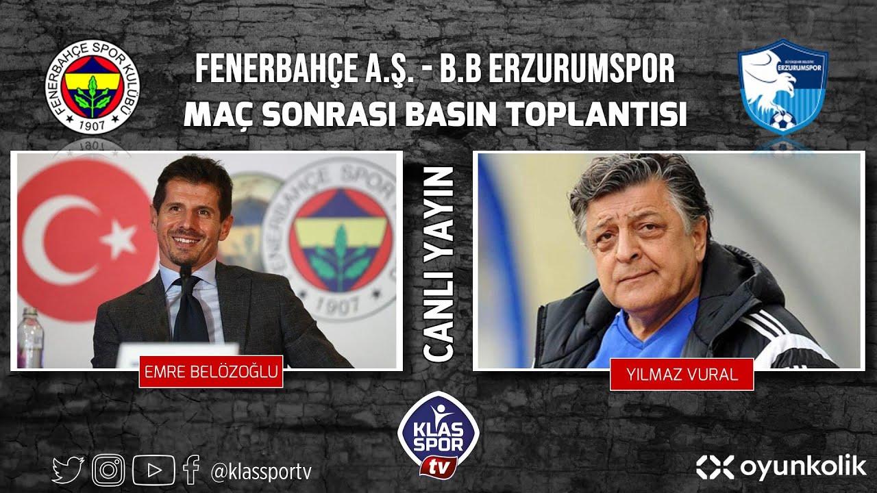 Fenerbahçe - Erzurumspor Basın Toplantısı ᴴᴰ (CANLI)
