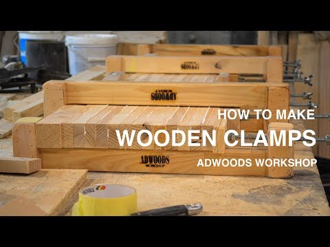 HOW TO MAKE WOODEN CLAMPS   ADWOODS WORKSHOP