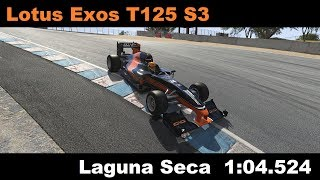 Assetto Corsa: Lotus Exos T125 Stage 3 @ Laguna Seca, 1:04.524 [World Record]