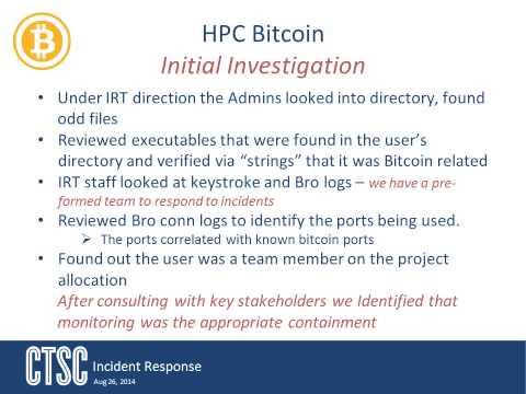 Incident Response: Case Study Bitcoin Mining