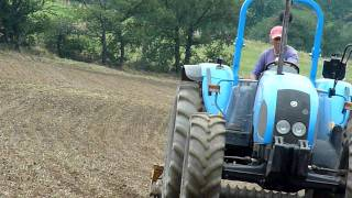 Grass sowing with Renault and Landini (semis de prarie)