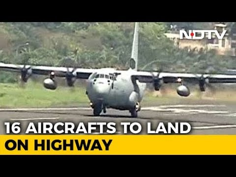 16 Air Force Planes To Land On Expressway Near Lucknow Today