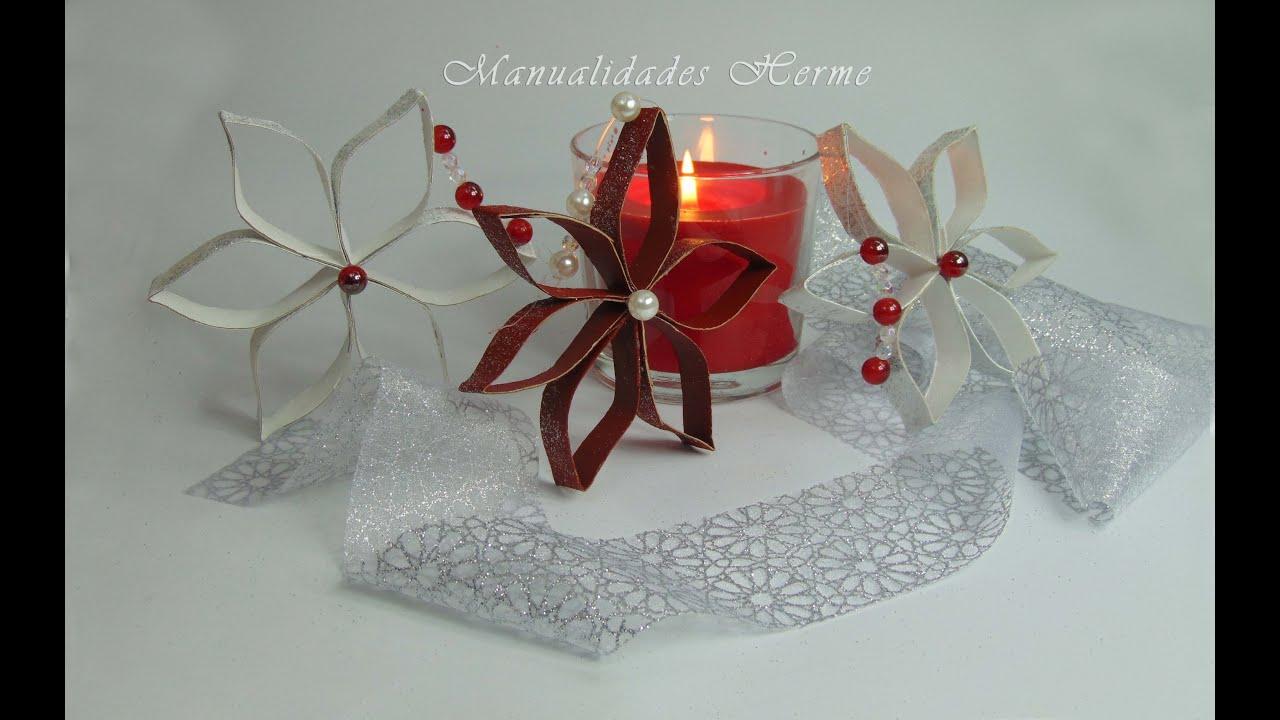 Hacer adorno navide o estrella youtube - Como hacer cosas de navidad ...