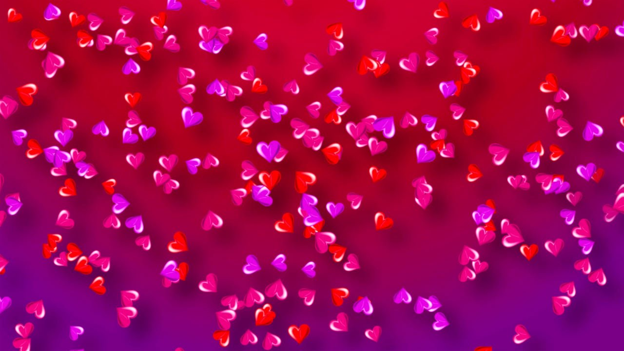 Colorful Hearts Background For Valentine's Day/Love