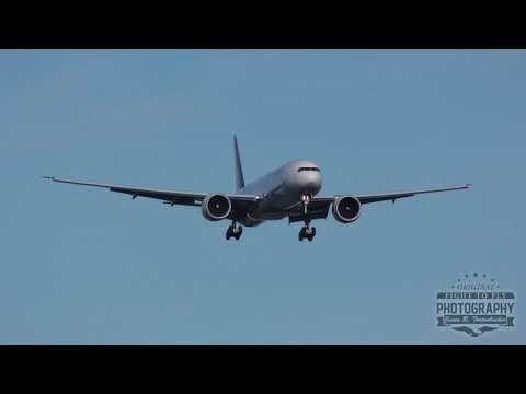 Philippines Boeing 777 Landing - Paine FIeld - Test Flight